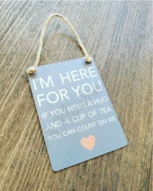 Here for You Gift Plaque