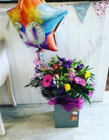 Florists Choice with Balloon