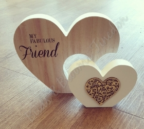 Fabulous Friend Wooden Heart Plaque