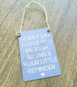 Little Reminder Gift Plaque